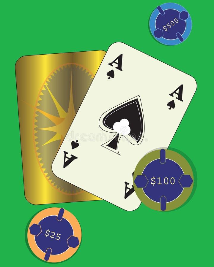 κράτημα καρτών διανυσματική απεικόνιση