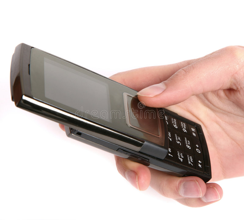 κράτημα της κινητής τηλεφωνικής γυναίκας στοκ εικόνα με δικαίωμα ελεύθερης χρήσης
