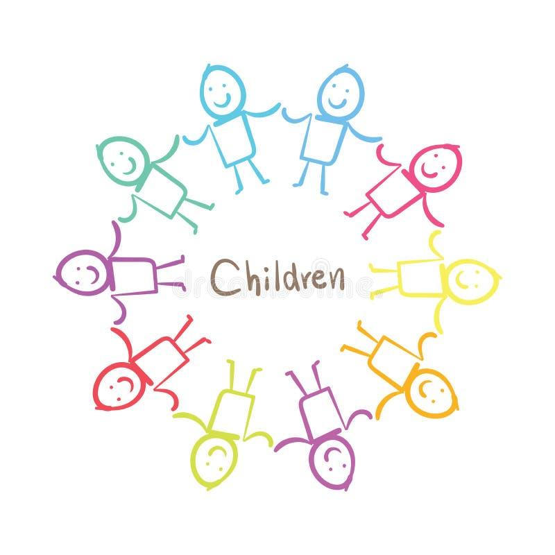 κράτημα χεριών παιδιών διανυσματική απεικόνιση