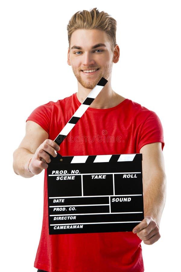Κράτημα clapboard στοκ φωτογραφία με δικαίωμα ελεύθερης χρήσης