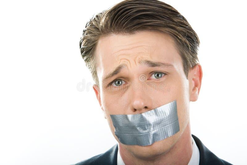 κράτηση της σιωπής στοκ φωτογραφίες