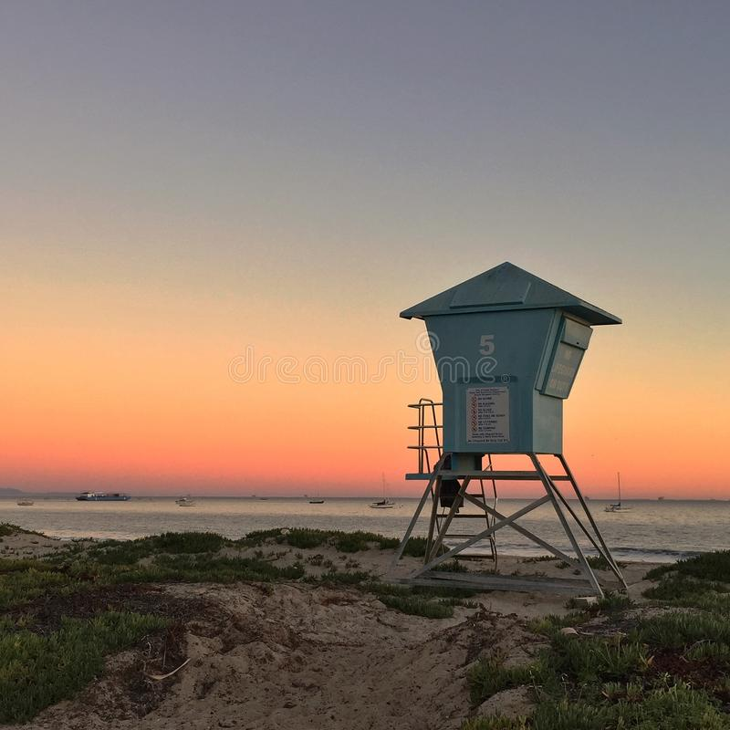 Κράτηση του ρολογιού: Santa Barbara ΗΠΑ στοκ φωτογραφίες