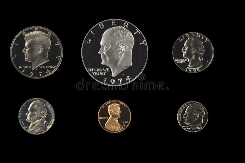 κράτη νομισμάτων που ενώνον στοκ φωτογραφία με δικαίωμα ελεύθερης χρήσης