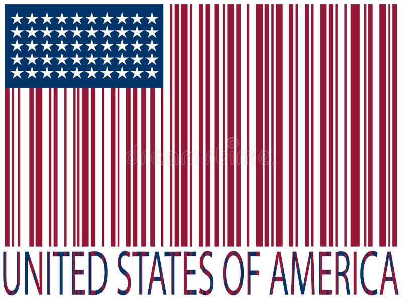 κράτη σημαίας κωδίκων ράβδ&omega διανυσματική απεικόνιση