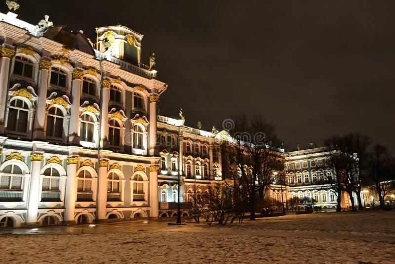 κράτος νύχτας μουσείων ερημητηρίων στοκ φωτογραφία