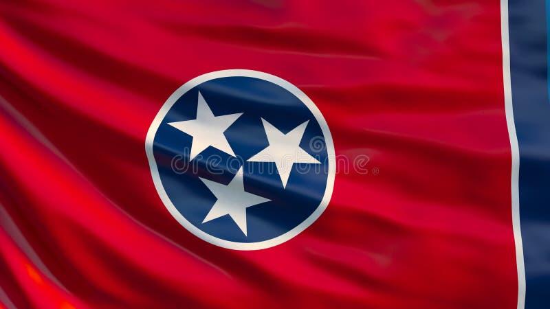 κράτος σημαίας Tennessee τρισδιάστατη απεικόνιση απεικόνιση αποθεμάτων