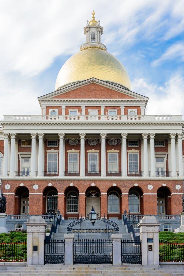 κράτος της Μασαχουσέτης σπιτιών της Βοστώνης στοκ εικόνες