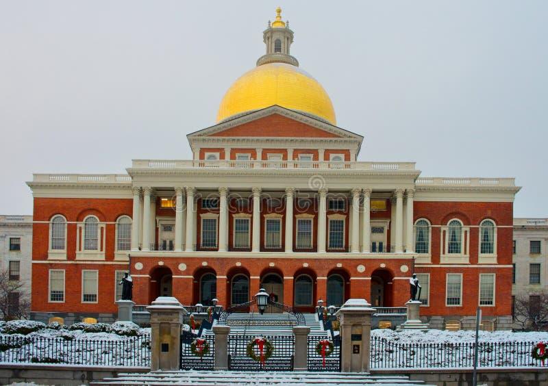 κράτος της Μασαχουσέτης σπιτιών της Βοστώνης ΜΑ ΗΠΑ στοκ φωτογραφία με δικαίωμα ελεύθερης χρήσης