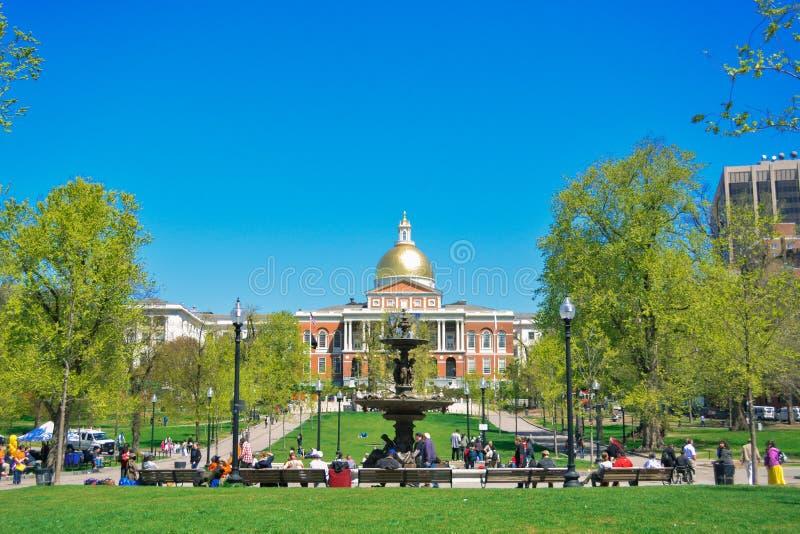 κράτος της Μασαχουσέτης σπιτιών της Βοστώνης στοκ φωτογραφίες με δικαίωμα ελεύθερης χρήσης