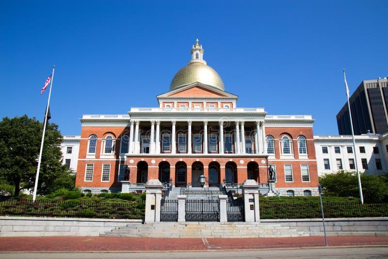 κράτος της Μασαχουσέτης σπιτιών της Βοστώνης στοκ φωτογραφία