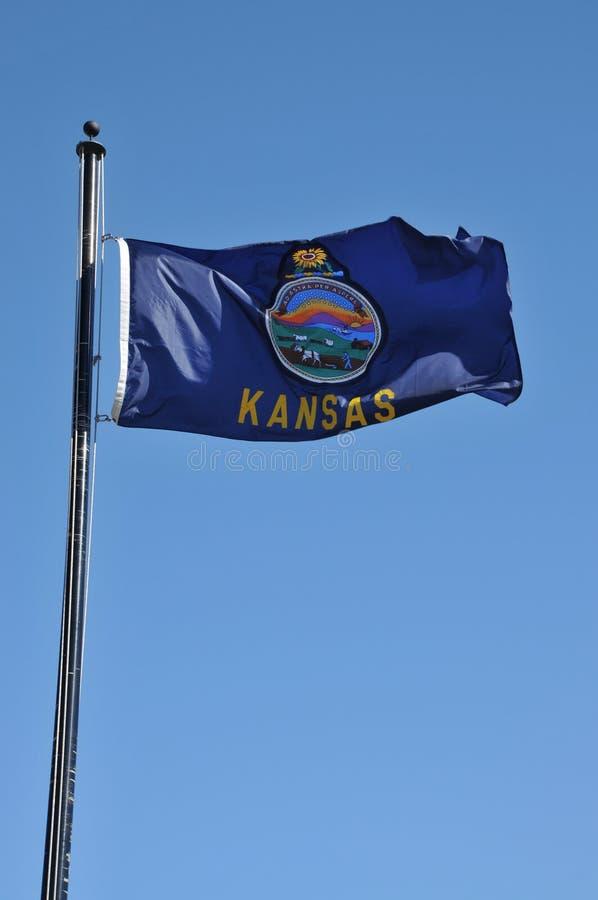 κράτος του Κάνσας σημαιών στοκ φωτογραφίες με δικαίωμα ελεύθερης χρήσης
