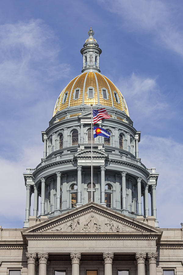 κράτος του Κολοράντο capitol στοκ εικόνα