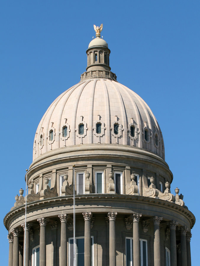 κράτος του Idaho θόλων capitol στοκ εικόνες