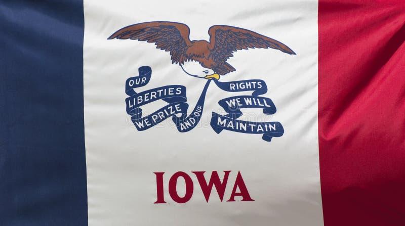 κράτος του Iowa σημαιών στοκ φωτογραφία με δικαίωμα ελεύθερης χρήσης
