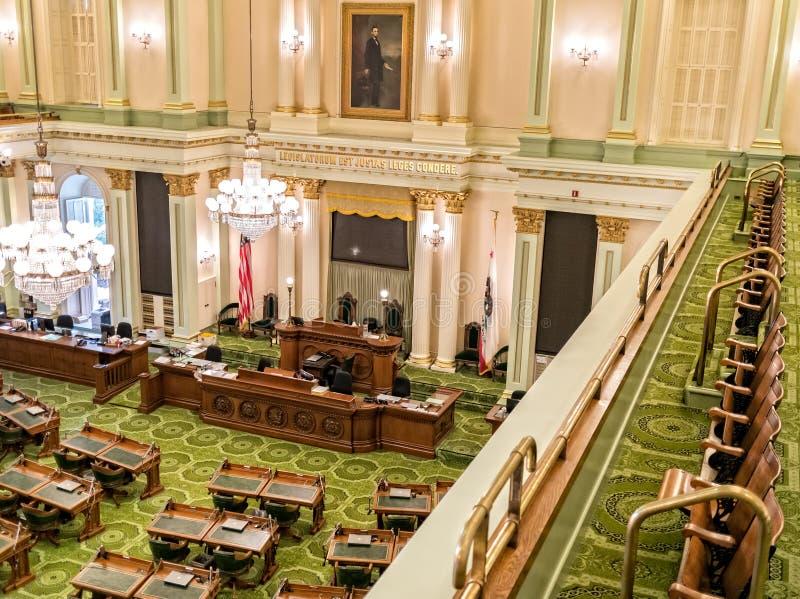 Κράτος Capitol, κρατικό νομοθετικό σώμα Καλιφόρνιας στοκ εικόνες