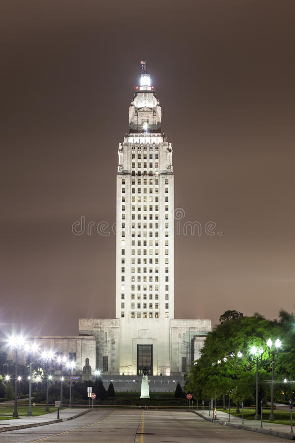Κράτος Capitol της Λουιζιάνας στο Μπάτον Ρουζ στοκ εικόνα