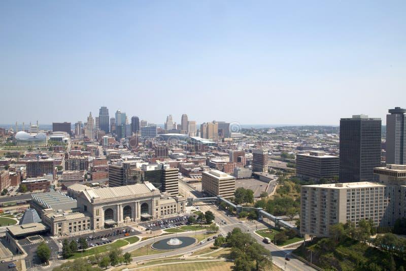 Κράτος Midwest ΗΠΑ του Μισσούρι άποψης του Κάνσας πόλεων στοκ εικόνες