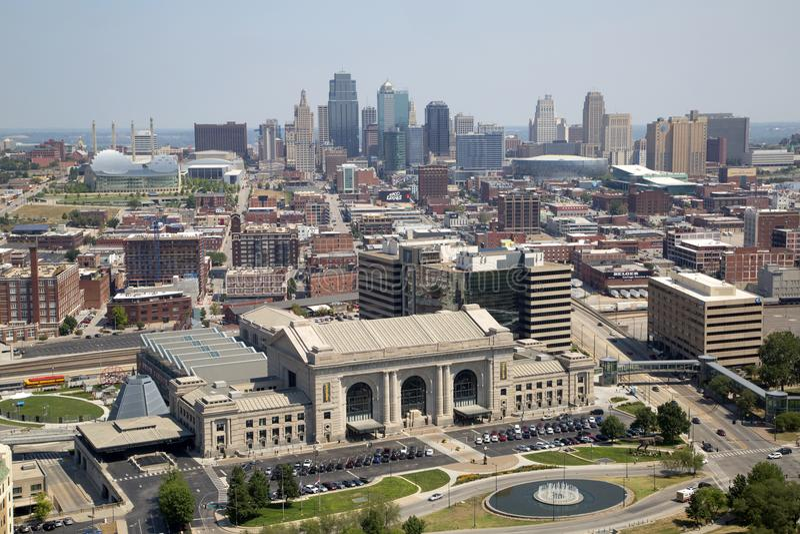 Κράτος Midwest ΗΠΑ του Μισσούρι άποψης του Κάνσας πόλεων στοκ φωτογραφία