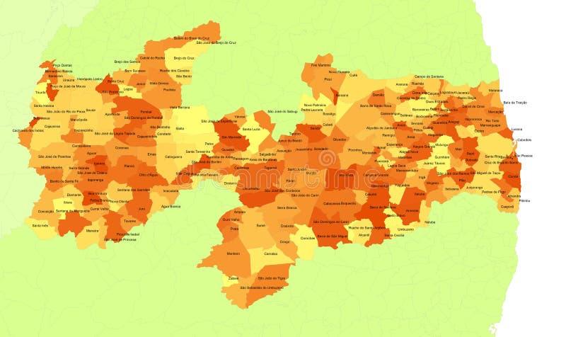 κράτος paraiba της Βραζιλίας διανυσματική απεικόνιση