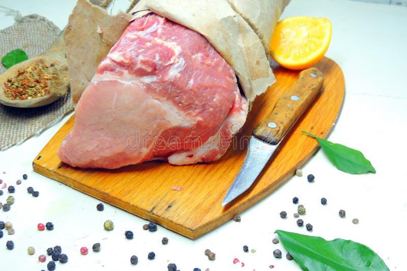 κρέας ακατέργαστο pork στοκ φωτογραφίες