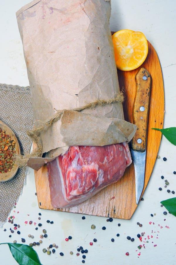 κρέας ακατέργαστο pork στοκ φωτογραφίες με δικαίωμα ελεύθερης χρήσης
