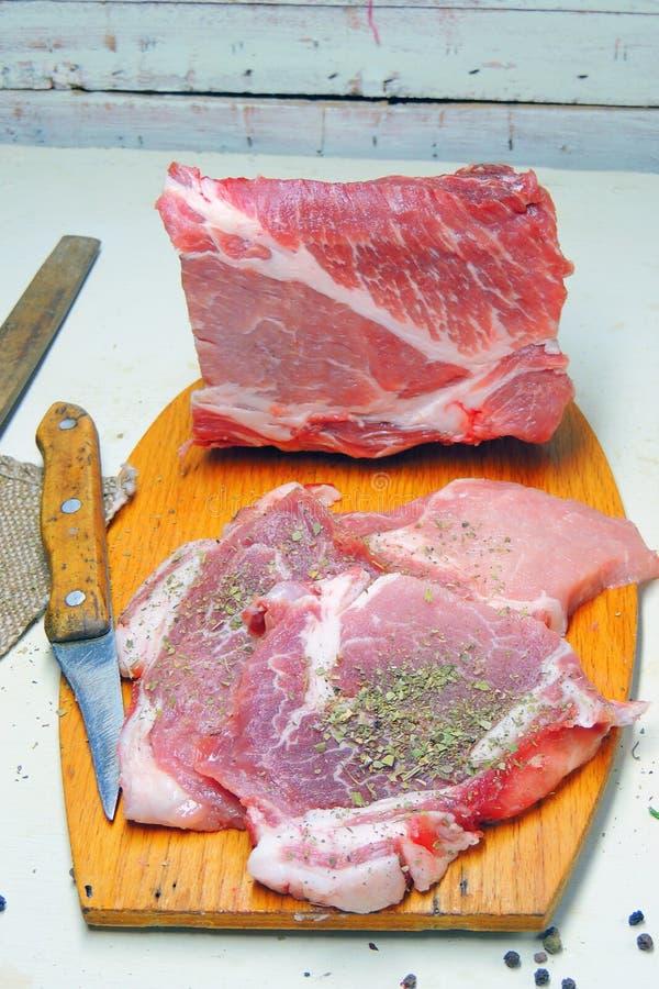 κρέας ακατέργαστο pork στοκ εικόνες