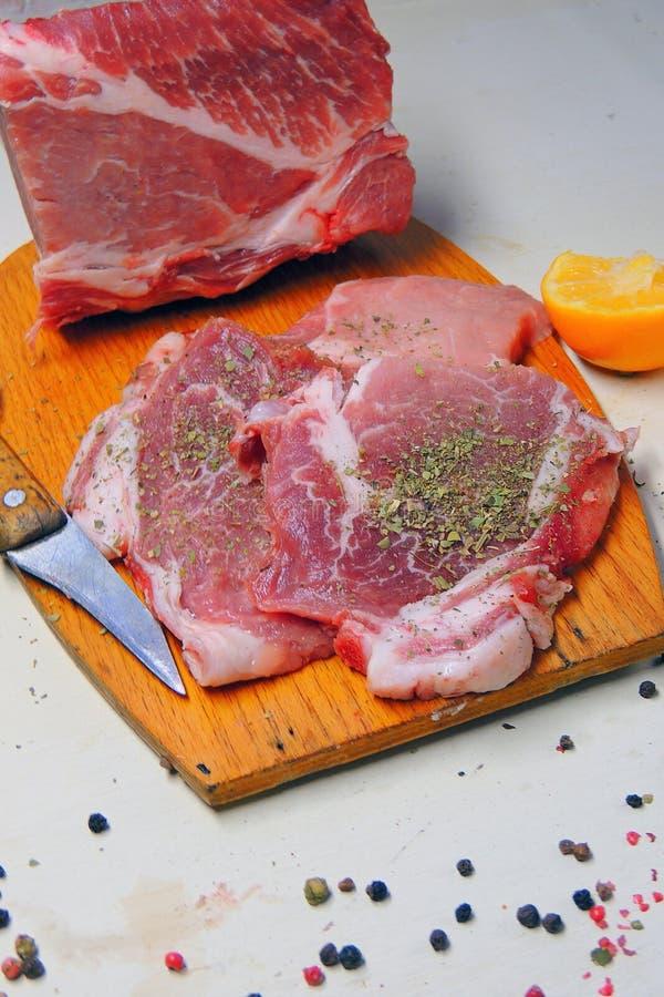 κρέας ακατέργαστο pork στοκ φωτογραφία