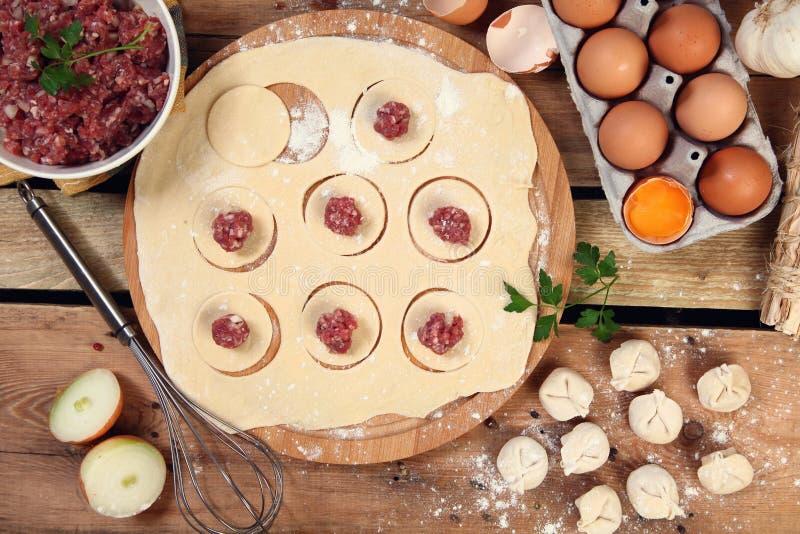 Κρέας και αυγά στοκ εικόνες