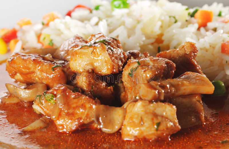 κρέας που μαγειρεύεται στοκ φωτογραφία με δικαίωμα ελεύθερης χρήσης