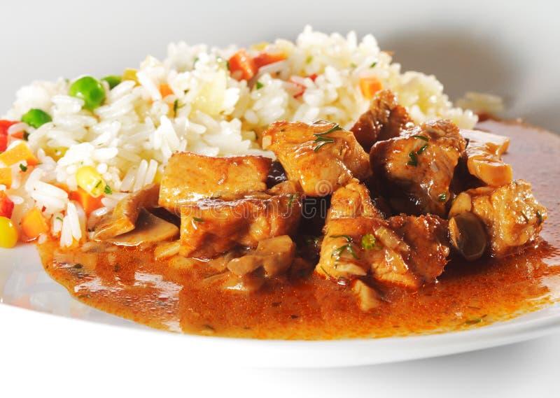 κρέας που μαγειρεύεται στοκ εικόνες