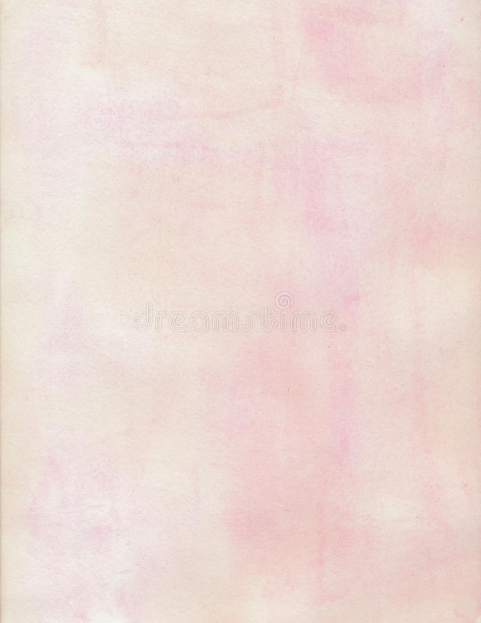 Κρέμα και ρόδινη μαλακή βρώμικη ανασκόπηση υδατοχρώματος στοκ εικόνα