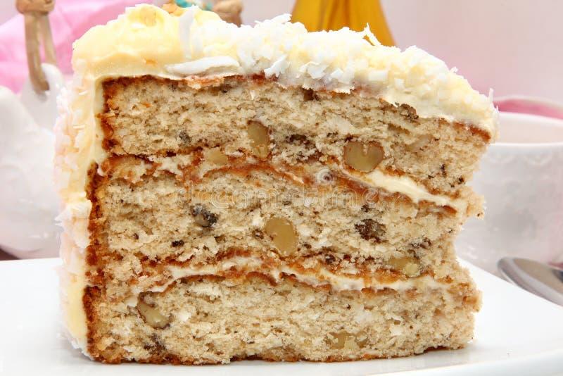 κρέμα καρύδων τυριών κέικ στοκ φωτογραφίες