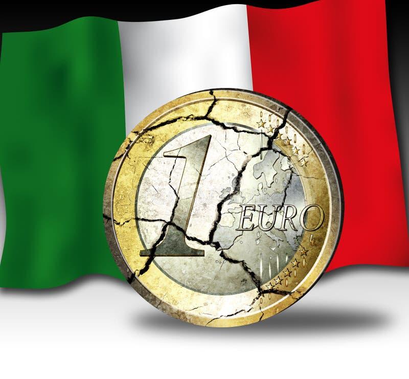 κρίσεις ευρο- Ιταλία στοκ φωτογραφίες