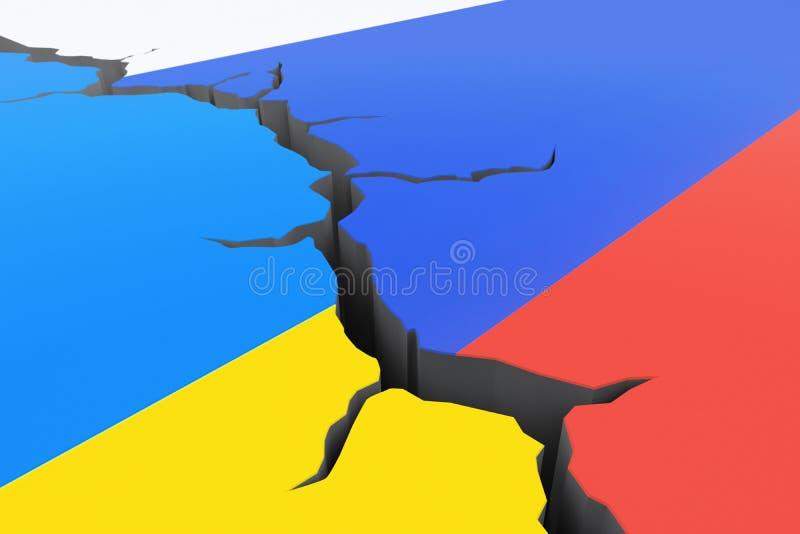 Κρίση Ρωσία-Ουκρανία διανυσματική απεικόνιση