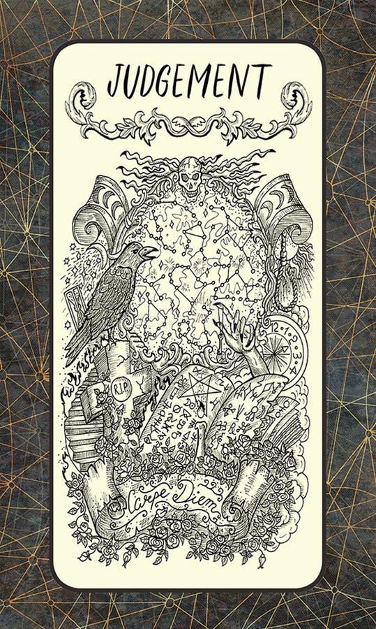 κρίση Σημαντική κάρτα Arcana Tarot διανυσματική απεικόνιση