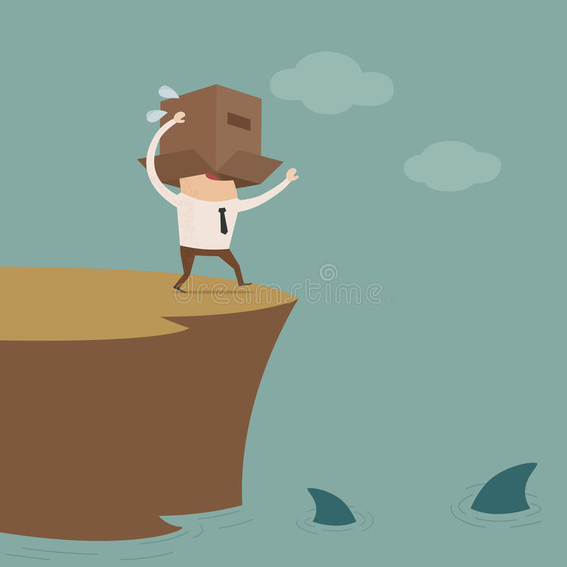 Κρίση στην επιχείρηση διανυσματική απεικόνιση