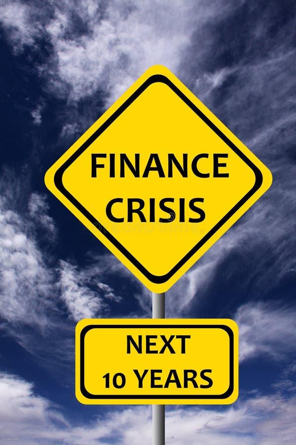Κρίση χρηματοδότησης διανυσματική απεικόνιση