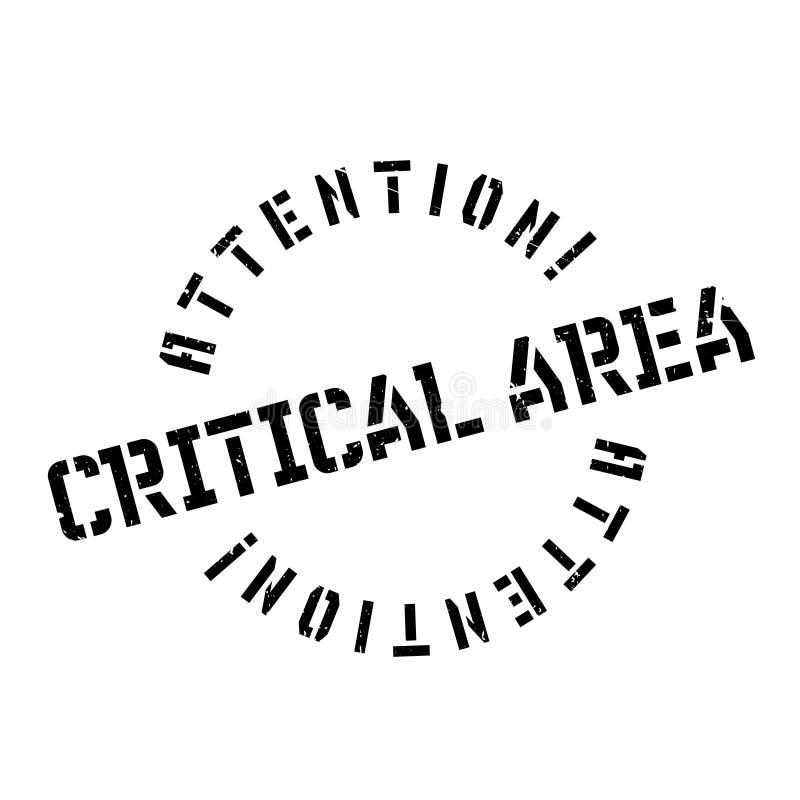 Κρίσιμη σφραγίδα περιοχής απεικόνιση αποθεμάτων