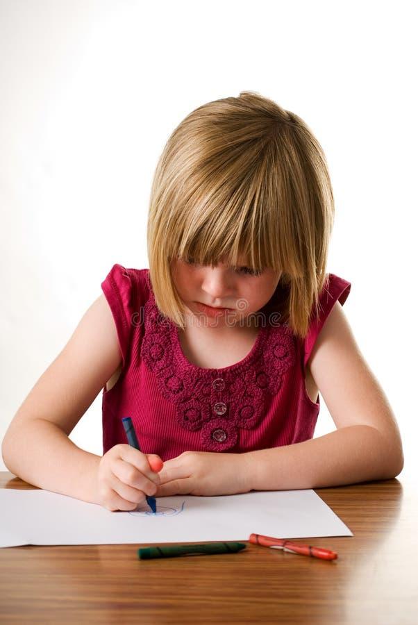 κραγιόνι παιδιών που σύρε&iota στοκ φωτογραφίες