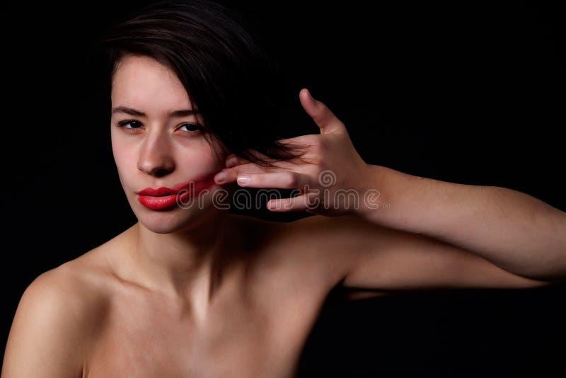 κραγιόν κοριτσιών χρώματο&sigm στοκ φωτογραφίες με δικαίωμα ελεύθερης χρήσης