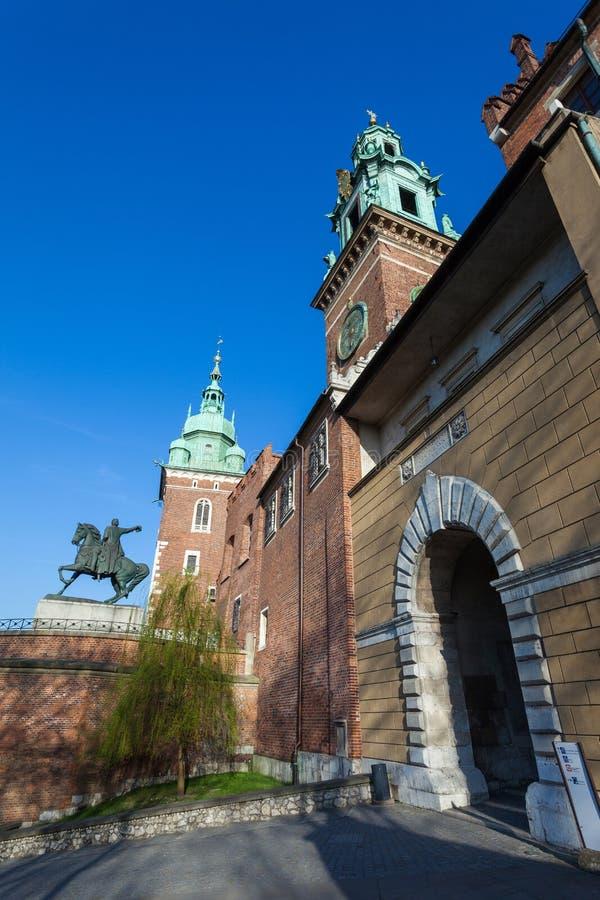 Κρακοβία Πολωνία ιστορία Κρακοβία μεσαιωνική αναμνηστική Πολωνία κάστρων wawel στοκ εικόνες