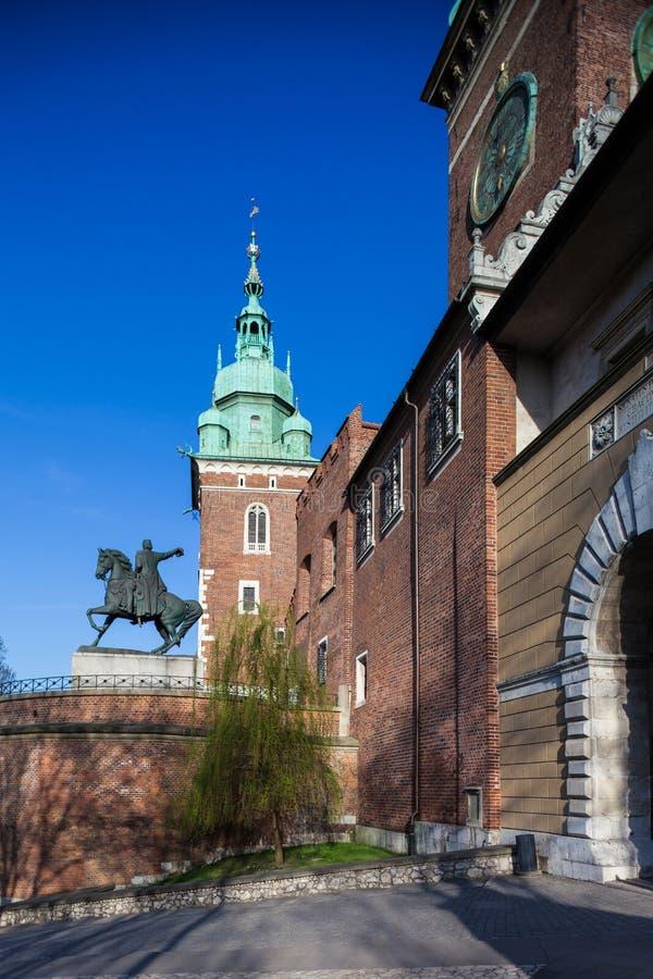 Κρακοβία Πολωνία Βασιλικό Wawel Castle στοκ εικόνες με δικαίωμα ελεύθερης χρήσης