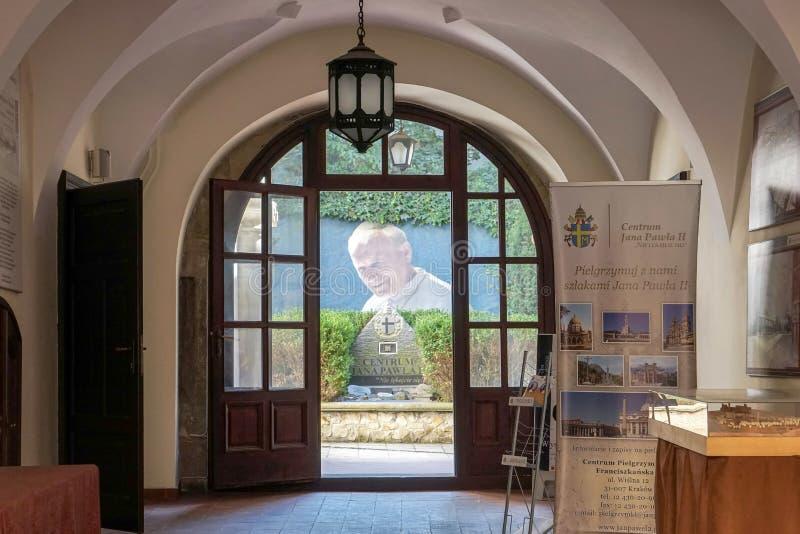 ΚΡΑΚΟΒΙΑ, POLAND/EUROPE - 19 ΣΕΠΤΕΜΒΡΊΟΥ: Γραφείο πληροφοριών σε Kra στοκ εικόνες με δικαίωμα ελεύθερης χρήσης