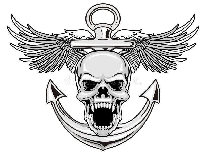 Κρανίο ναυτικού διανυσματική απεικόνιση