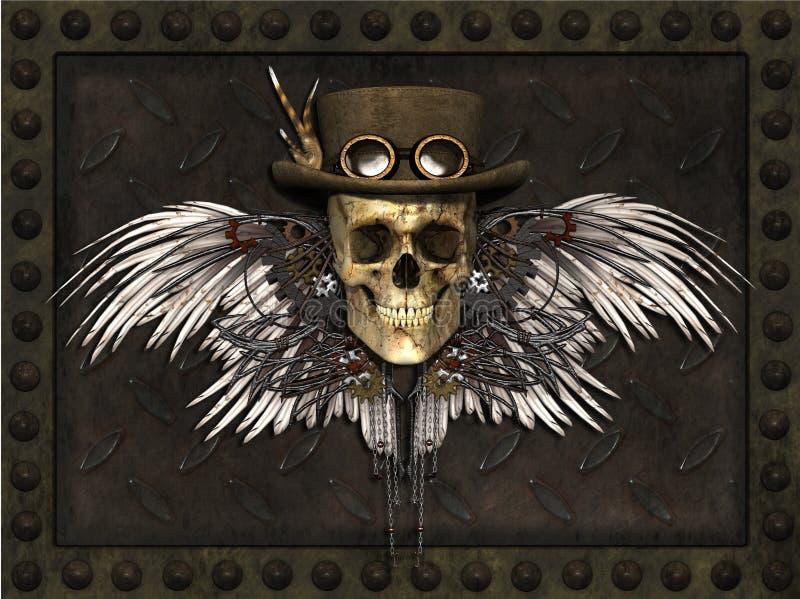 Κρανίο Steampunk ελεύθερη απεικόνιση δικαιώματος