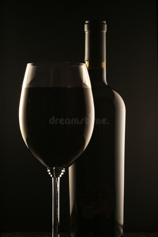 κρασί γυαλιού μπουκαλι στοκ εικόνα