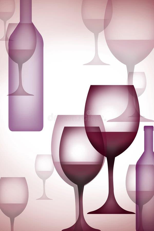 κρασί γυαλιού φλυτζανιώ&nu διανυσματική απεικόνιση