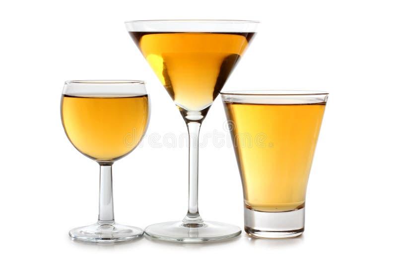 κρασί γυαλιών κίτρινο στοκ φωτογραφίες