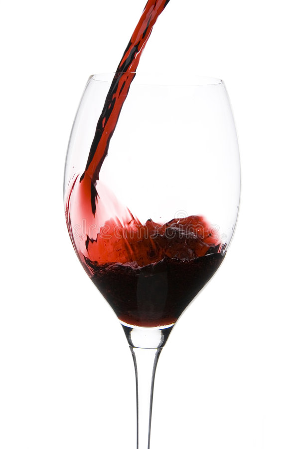κρασί εστιατορίων γυαλιού στοκ φωτογραφία
