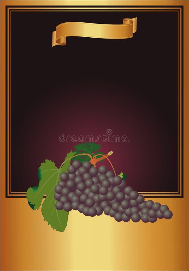 κρασί ετικετών απεικόνιση αποθεμάτων